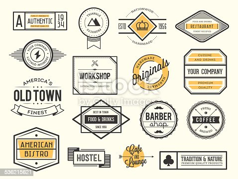 istock set of vintage logos, badges and labels 536215621
