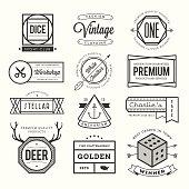 set of vintage logos, badges and labels, vector illustration