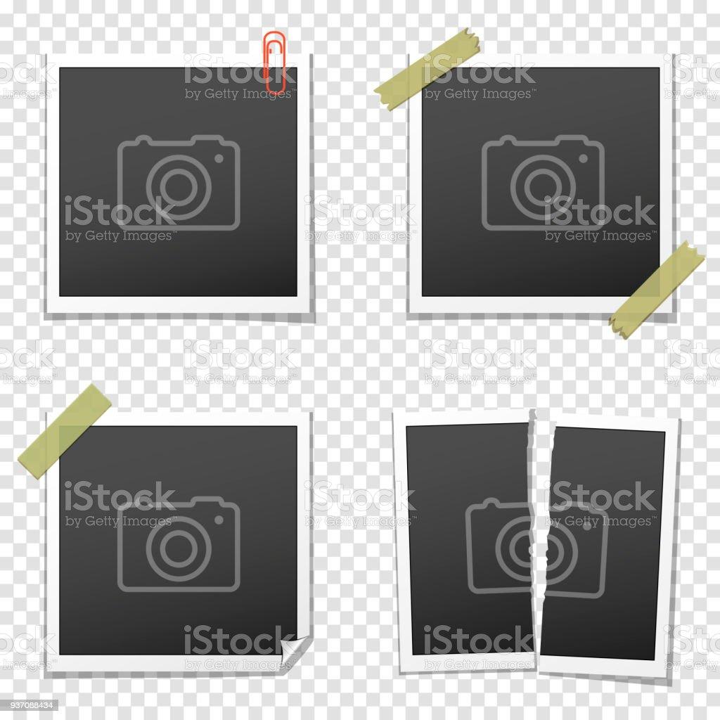 Satz Von Vintage Bilderrahmen Auf Transparenten Hintergrund Stock ...
