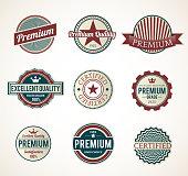 Set of Vintage Premium labels