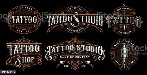 Set of vintage tattoo emblems vector id984339470?b=1&k=6&m=984339470&s=612x612&h= il7dna5s3o9o9mplksjezpwooegbp9rkdgwgotgjac=