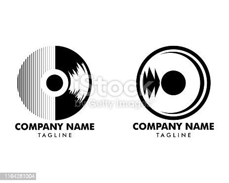 Set of Vinyl Record Logo Template Design Vector