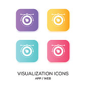 Set of Visualization App Icon