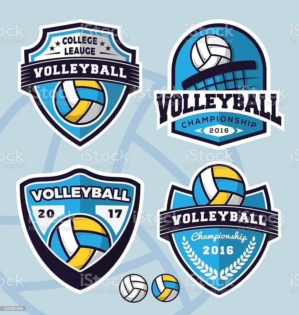 Ein Satz von volleyball-logo-Vorlage-design – Vektorgrafik