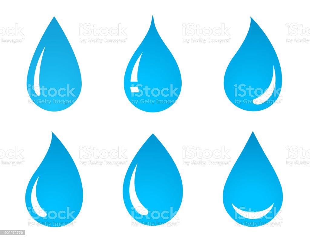 conjunto de ícones de gota de água - ilustração de arte em vetor