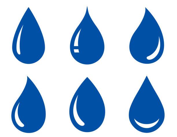 zestaw kropli wody - kropla stock illustrations