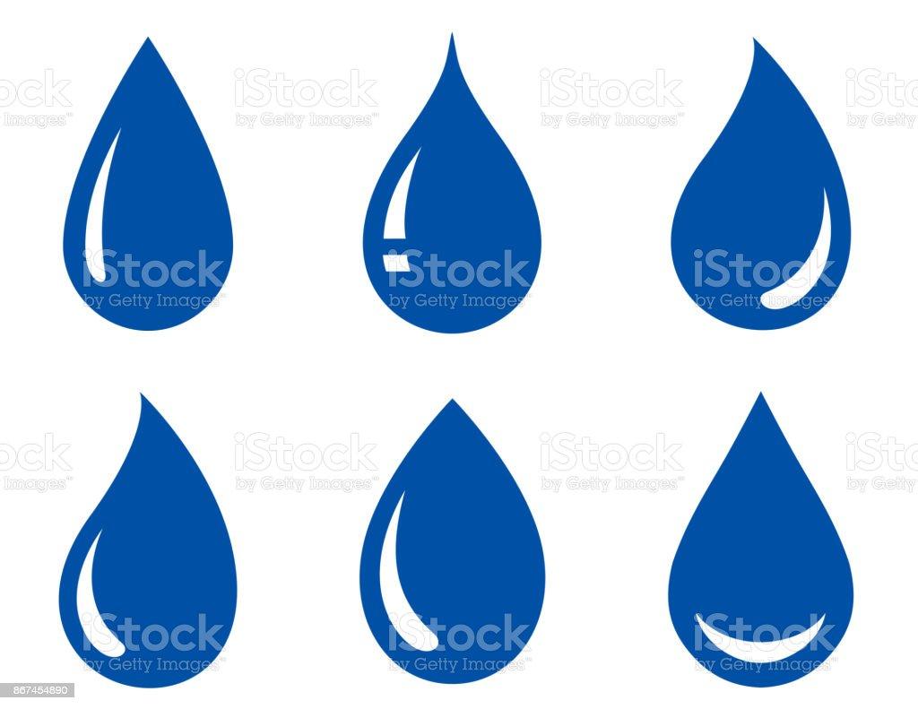 conjunto de gotas de água - ilustração de arte em vetor