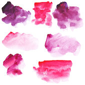 set of abstract watercolor spots, vector