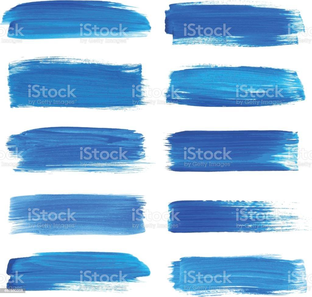 Set of watercolor strokes