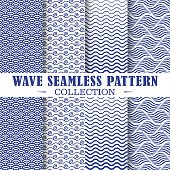 istock Set of wave and nautical patterns. 1166376999
