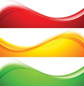 Set of wave banners abstract vector illustration