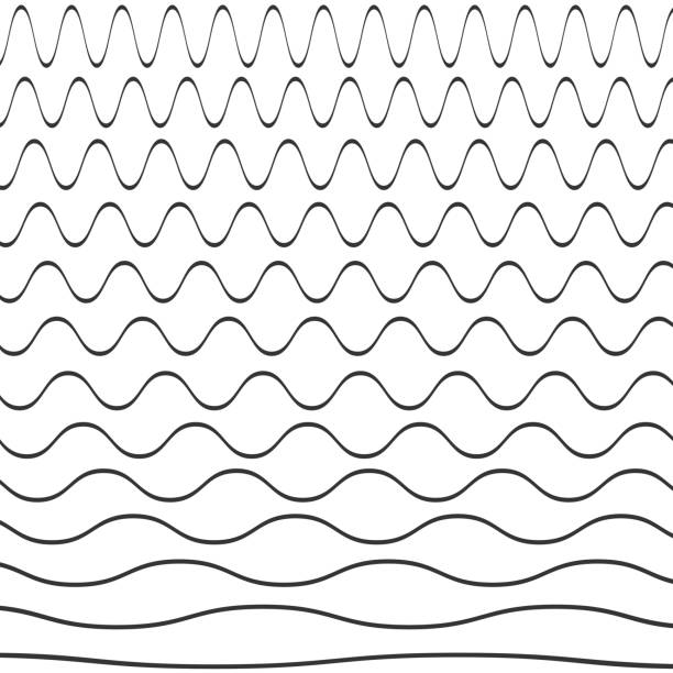 Set of wavy pattern Set of wavy pattern isolated on background. Vector illustration. Eps 10. squiggle stock illustrations