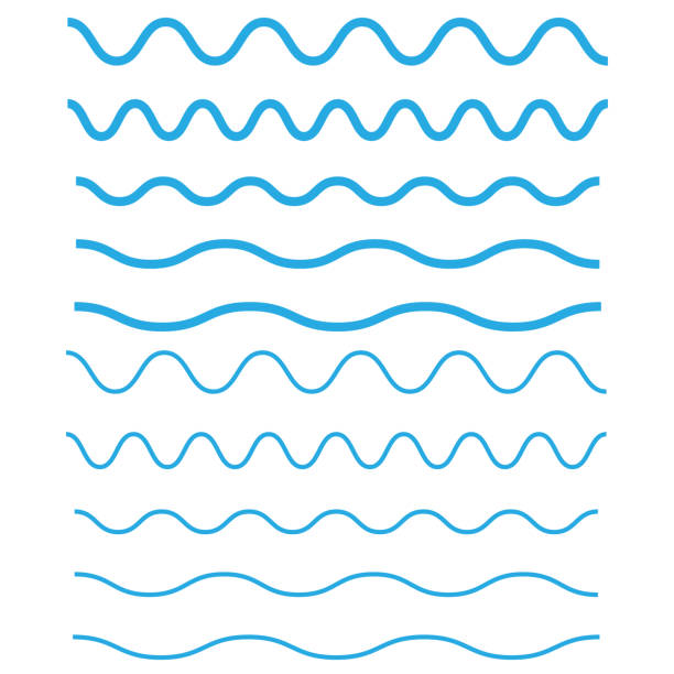 Set of wavy, zigzag, horizontal lines. Waves outline icon. Wave thin line symbol Set of wavy, zigzag, horizontal lines. Waves outline icon. Wave thin line symbol squiggle stock illustrations
