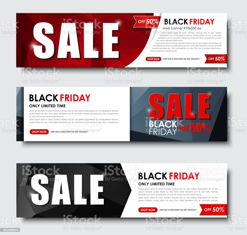 Set of web banner for sales on Black Friday set of web banner for sales on black friday - arte vetorial de stock e mais imagens de arte, cultura e espetáculo royalty-free