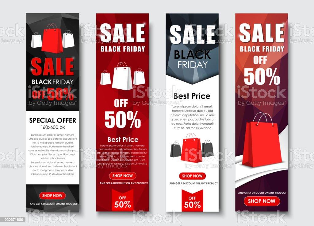 Set of web banner for sales on Black Friday set of web banner for sales on black friday - stockowe grafiki wektorowe i więcej obrazów abstrakcja royalty-free