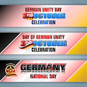 Set of web banners for German Unity day