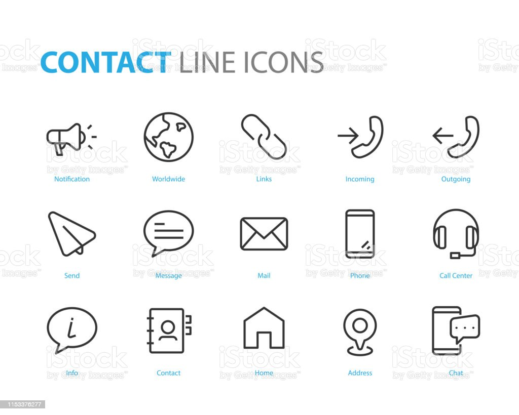 Set Of Web Icons Such As Address Contact Social Media Add Friend
