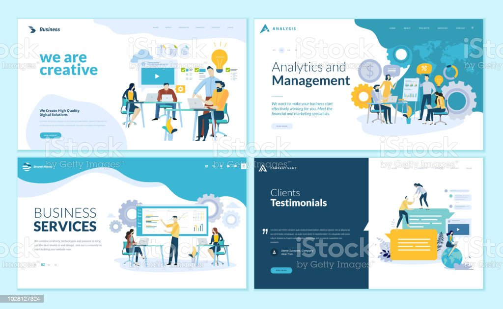 set of web page design templates for creative and innovative