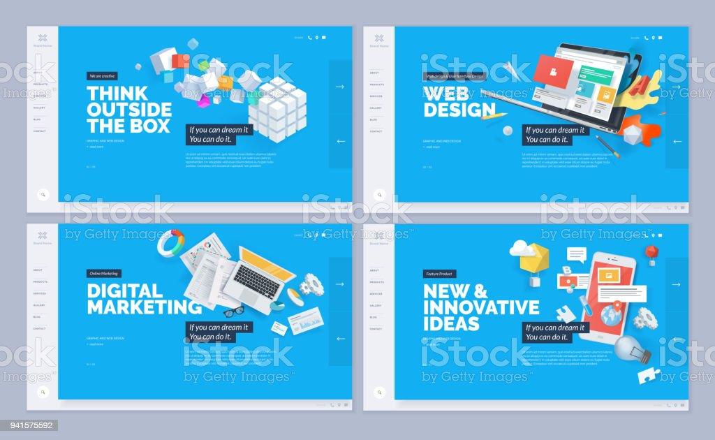Satz von Website-Template-designs – Vektorgrafik
