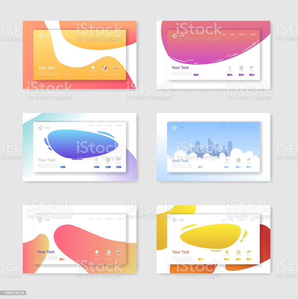 c71f68dd1 Set of Website Templates Landing Page Layouts. Mobile Development Design  Easy to Edit and Customize. Vector illustration - Illustration .