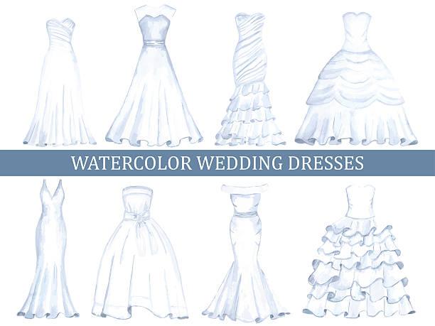 ウェディングドレス イラスト素材 Istock