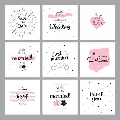 Set of wedding quotes
