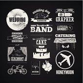 Set of wedding vintage typographic design