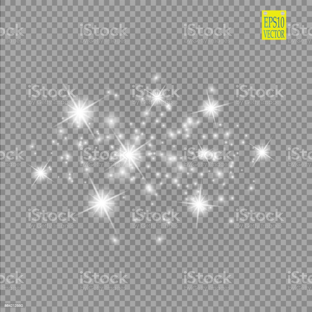 Set of white glowing lights effects isolated on transparent background. Sun flash with rays and spotlight. Glow light effect. Star burst with sparkles royalty-free set of white glowing lights effects isolated on transparent background sun flash with rays and spotlight glow light effect star burst with sparkles stock vector art & more images of abstract