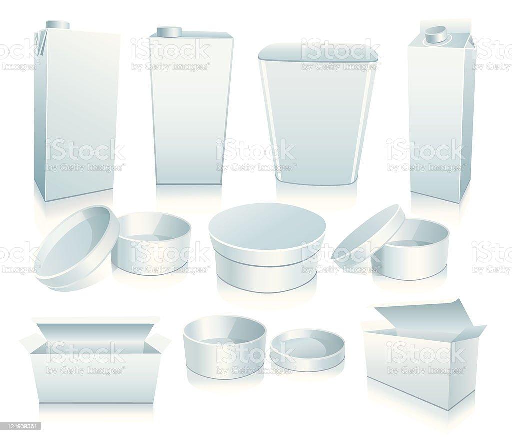 Set of white packaging. royalty-free stock vector art