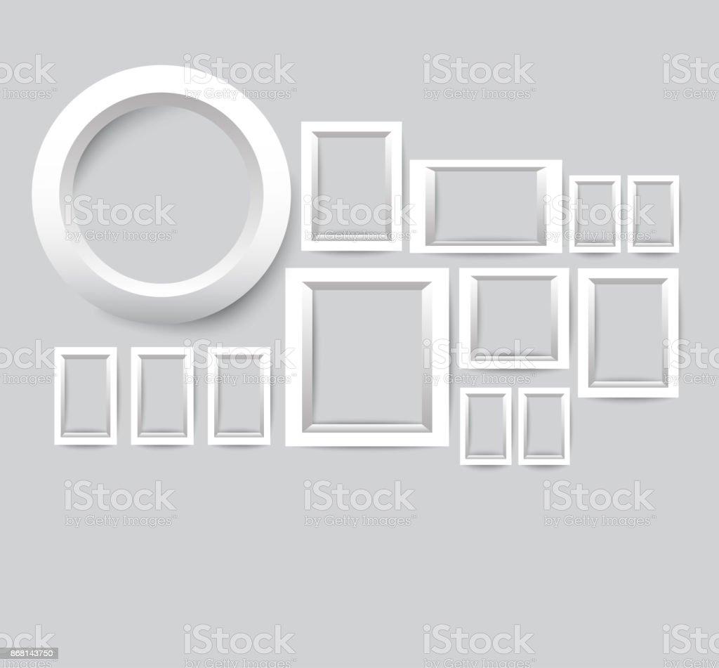 Ilustración de Conjunto De Marcos De Fotos Blancos Colección De ...