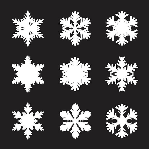 세트마다 인명별 snowflakes - snowflakes stock illustrations