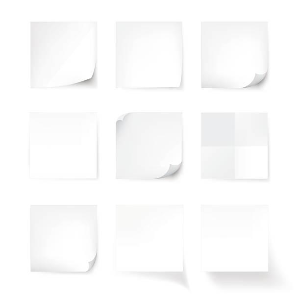 weiße stick hinweis, isoliert auf weißem hintergrund, vektor - plakatieren stock-grafiken, -clipart, -cartoons und -symbole