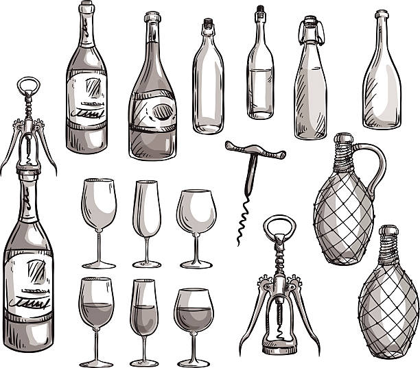 royalty free drawing of bottle opener clip art vector images illustrations istock. Black Bedroom Furniture Sets. Home Design Ideas