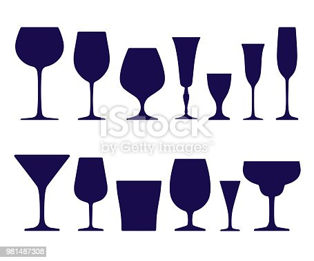 Calice vino vetro 5 SVG bicchiere di vino in formato SVG | Etsy