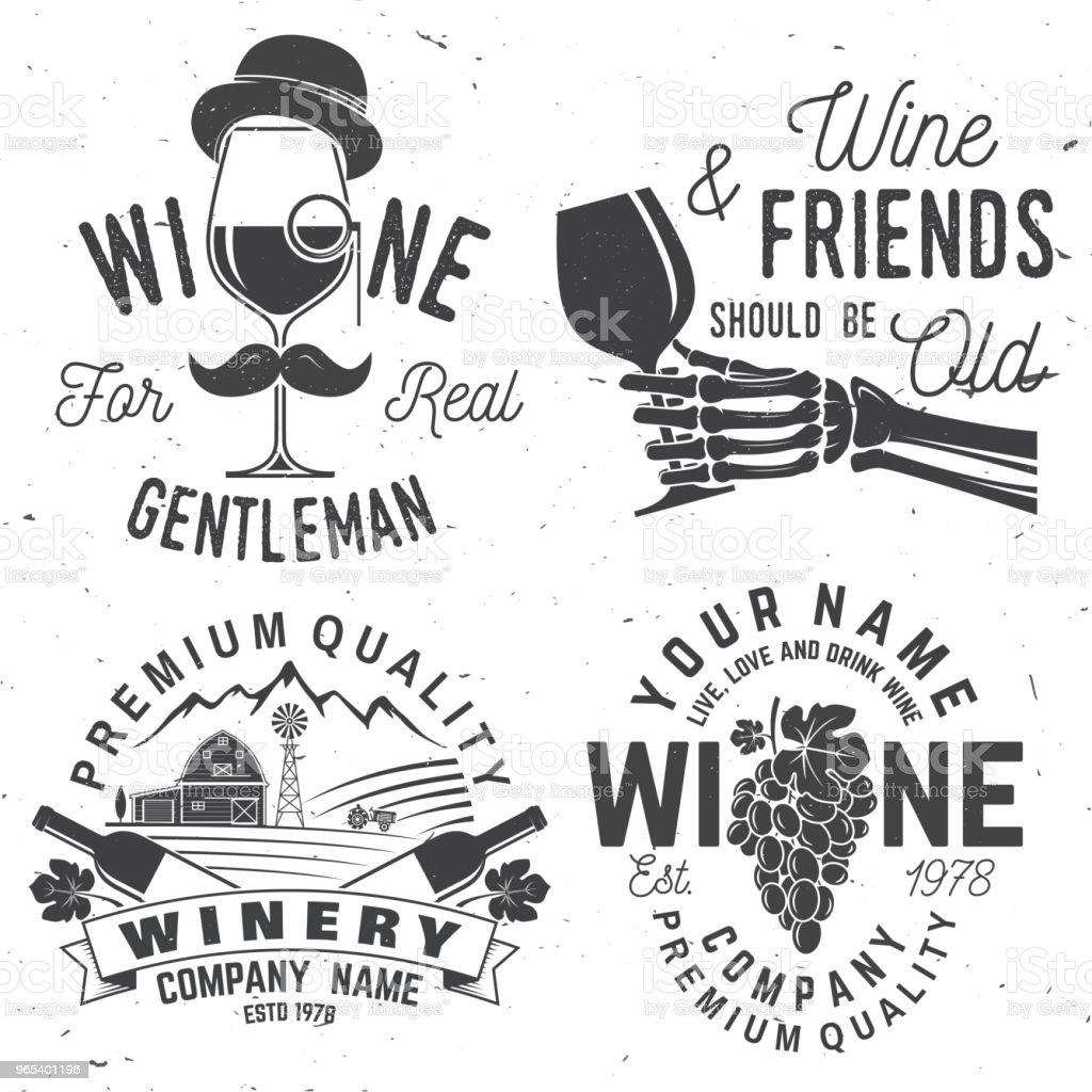 溫納公司徽章、標誌或標籤的集合。向量插圖 - 免版稅人類骨架圖庫向量圖形