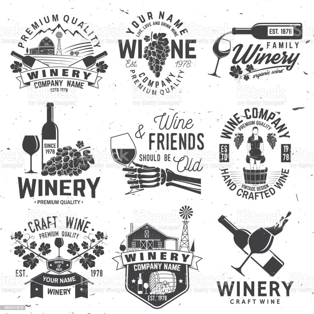 Set of winer company badge, sign or label. Vector illustration royalty-free set of winer company badge sign or label vector illustration stock vector art & more images of agriculture