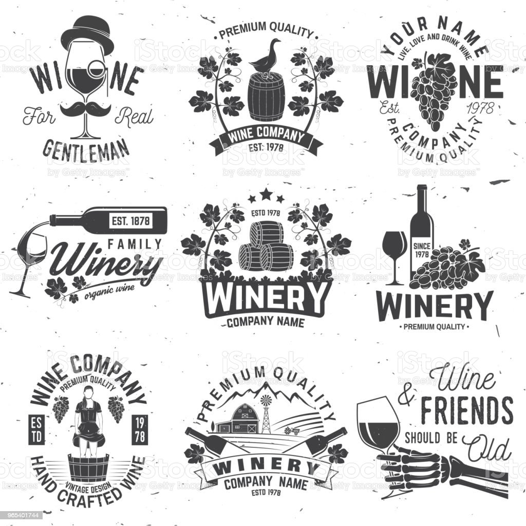 Set of winer company badge, sign or label. Vector illustration royalty-free set of winer company badge sign or label vector illustration stock illustration - download image now