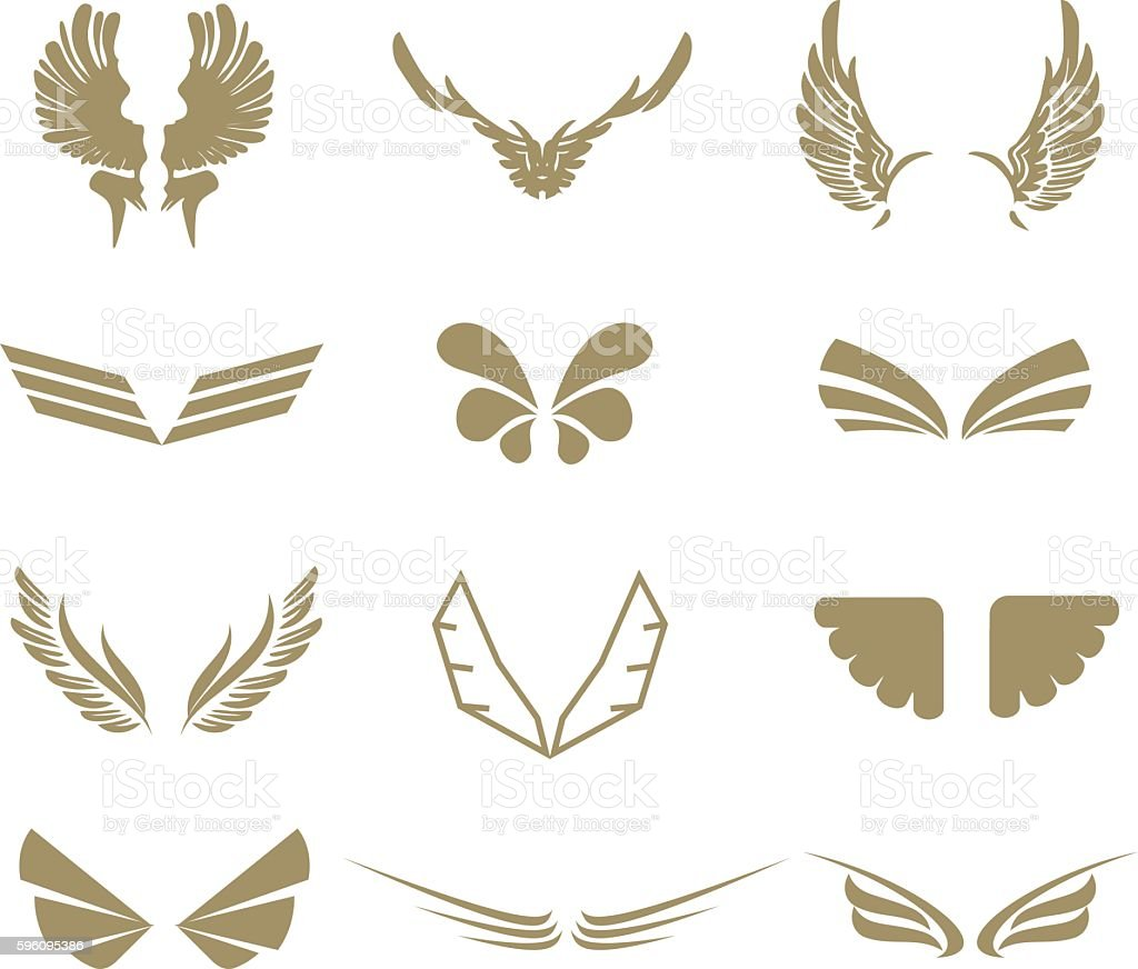 Set of wings royalty-free set of wings stock vector art & more images of abstract