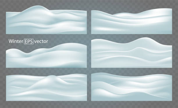Set of winter abstract backgrounds, snow-covered relief hills with shadows. Set of six winter abstract backgrounds of various configurations of snow-covered relief hills with shadows. snowdrift stock illustrations