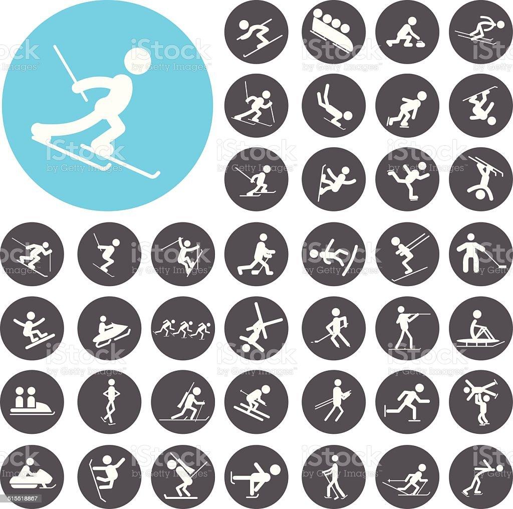 Satz von winter-sport-icons.  Illustration eps10 – Vektorgrafik