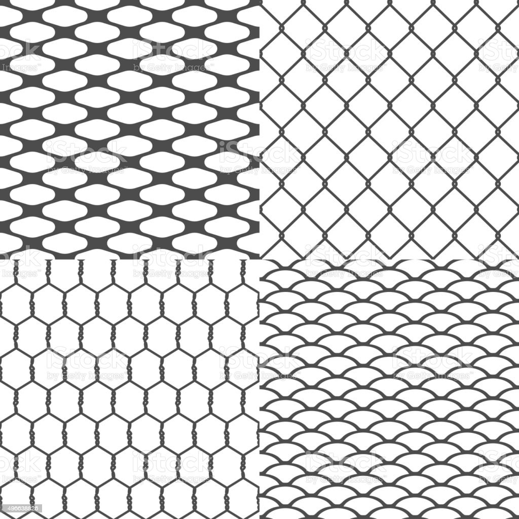 Set of Wires Seamless Backgrounds Vector vector art illustration