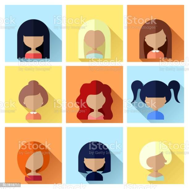 Set of women faces icons in flat design vector id527819711?b=1&k=6&m=527819711&s=612x612&h=viqwlzzkspax92vtdq3zg8kybj8lvy kdteaoamvggs=