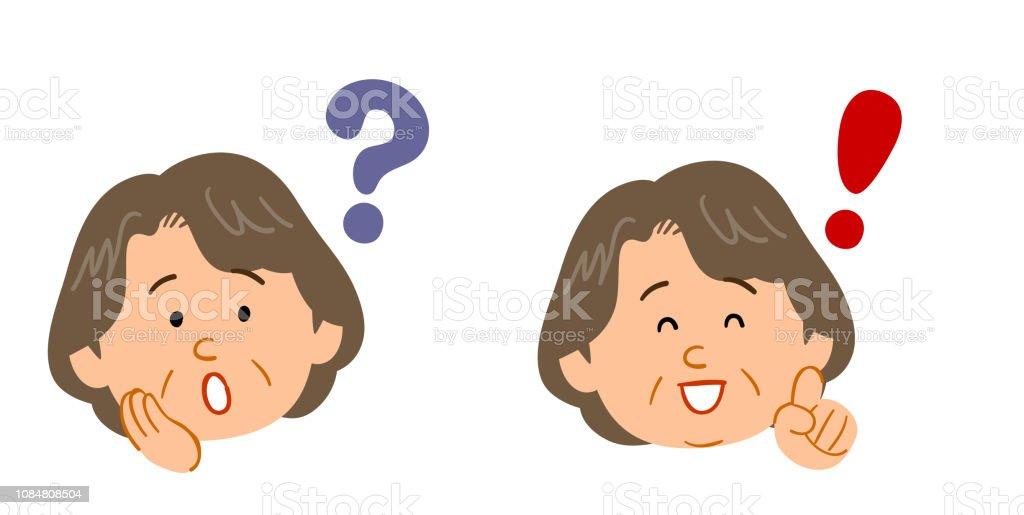 Ilustracion De Juego De Preguntas Y Respuestas De Las Mujeres Para Las Mujeres De Mediana Edad Y Mayores Y Mas Vectores Libres De Derechos De Adulto Istock