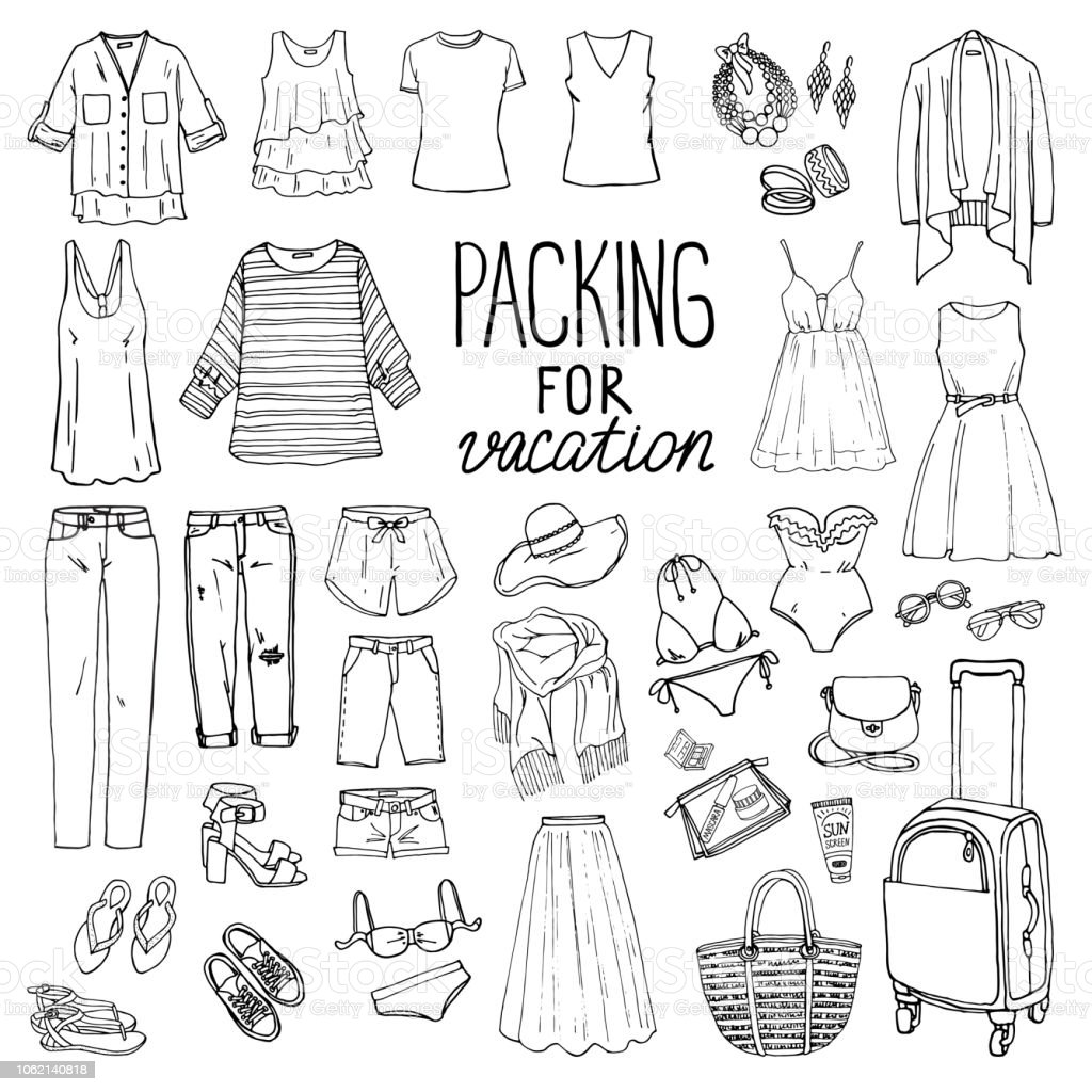 71d260ef8dac Set Of Womens Summer Fashion Collection Stock Vector Art   More ...