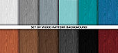 istock Set of wood pattern background 1221504005