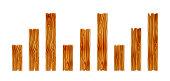 Set of wood planks. Wooden boadr elements. Vector Illustration