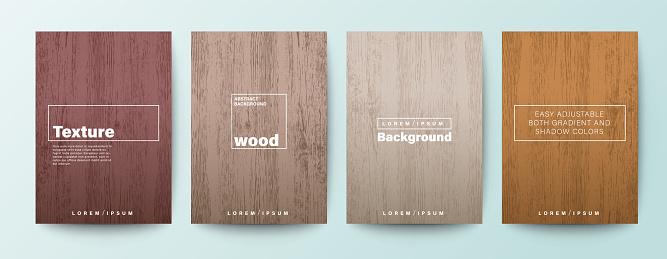 Set of wood texture background. Wooden board background for Brochure, Flyer, Poster, leaflet, Annual report, Book cover, Banner, Presentation, Website, App, wallpaper.