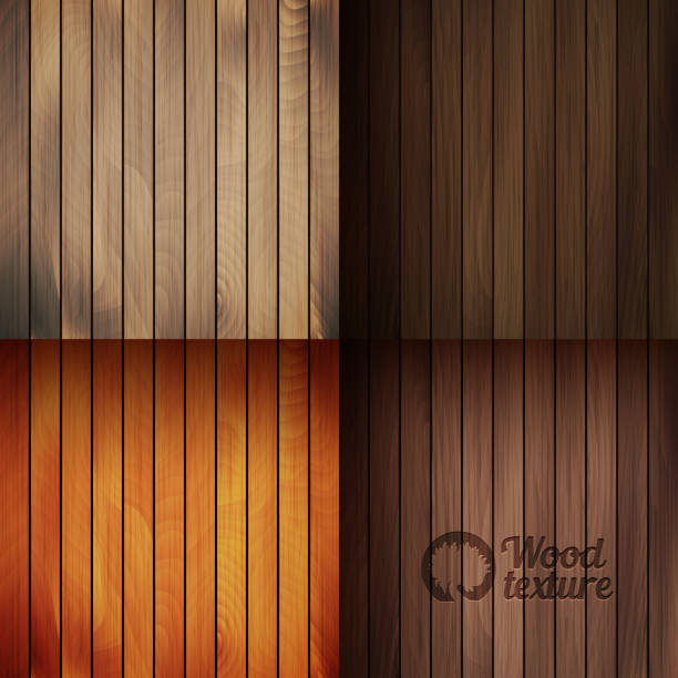 set of wood texture backgrounds, four colors included - wood texture stock illustrations