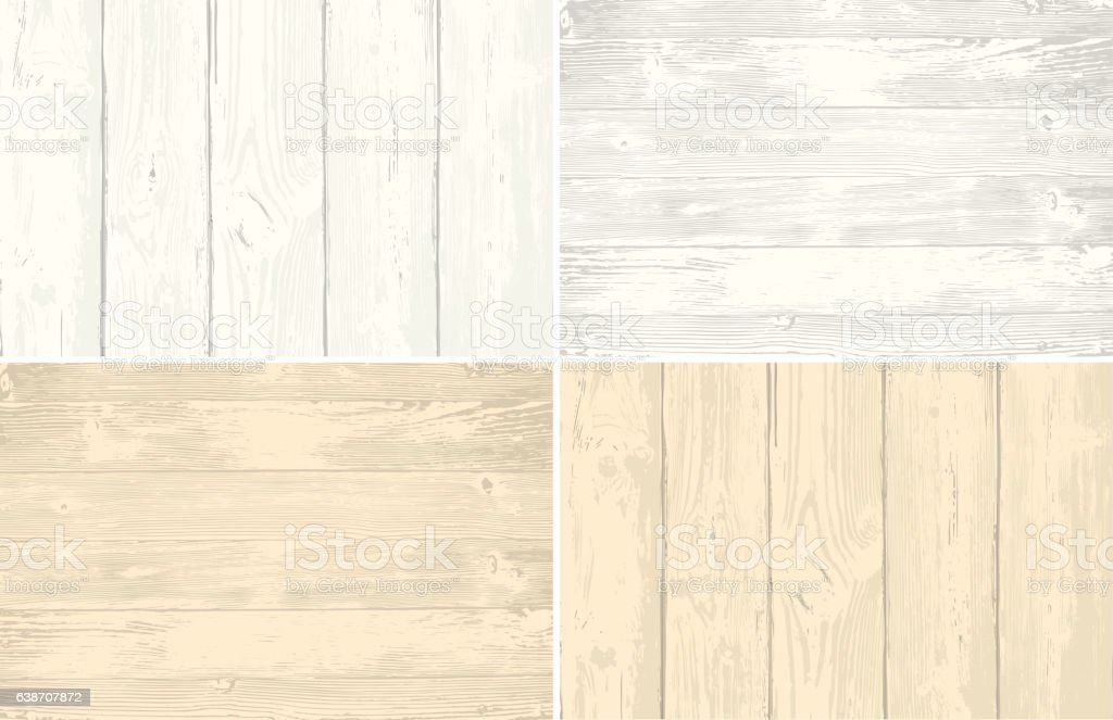 Set of wooden planks overlay texture for your design. Shabby vector art illustration