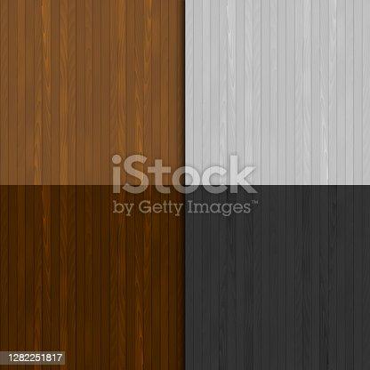 istock Set of wooden texture. Vector. 1282251817